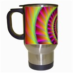 Fractal34 Travel Mug (White) from Custom Dropshipper Left