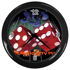 Atlantic City Wall Clock (Black) from Custom Dropshipper Front