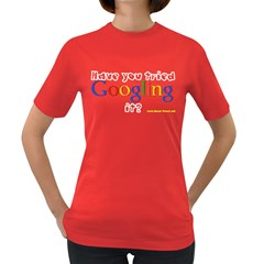 Have you tried Googling it? Women s Dark T Front