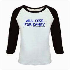 Will Code For Candy Kids Baseball Jersey from Custom Dropshipper Front