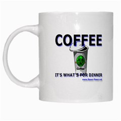 Coffee It s What s For Dinner White Mug from Custom Dropshipper Left