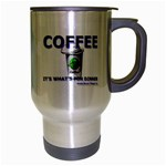 Coffe It s What s For Dinner Travel Mug (Silver Gray) from Custom Dropshipper Right