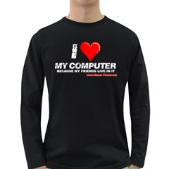 I love my computer Long Sleeve Dark T Front