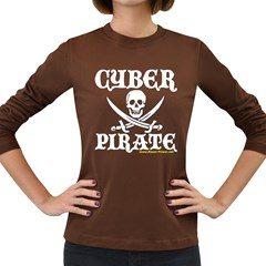 Cyber Pirate  Women s Long Sleeve Dark T Front