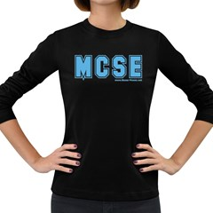 MCSE College Women s Long Sleeve Dark T Front