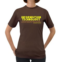 Information Technology Women s Dark T Front