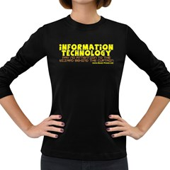 Information Technology Women s Long Sleeve Dark T Front