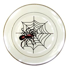 Spider in web Porcelain Plate from Custom Dropshipper Front