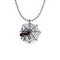 Spider in web 1  Button Necklace from Custom Dropshipper Front