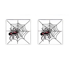 Spider in web Cufflinks (Square) from Custom Dropshipper Front(Pair)