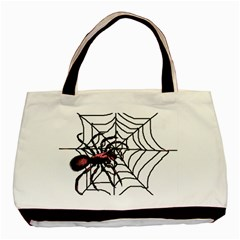 Spider in web Classic Tote Bag from Custom Dropshipper Front