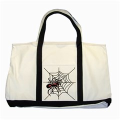 Spider in web Two Tone Tote Bag from Custom Dropshipper Front