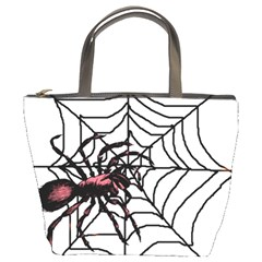Spider in web Bucket Bag from Custom Dropshipper Front
