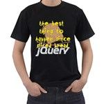 Best Thing Since jQuery Black T-Shirt