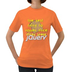 Best Thing Since jQuery Women s Dark T Front
