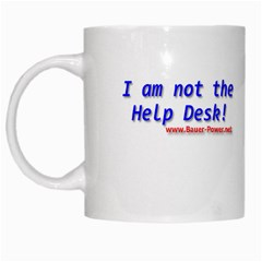 Not Help Desk White Mug from Custom Dropshipper Left