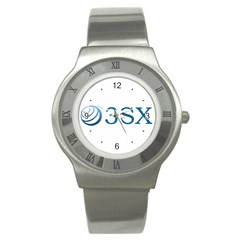 O3sx Logo Stainless Steel Watch from Custom Dropshipper Front